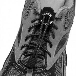 lock laces schwarz triathlon schnürsenkel